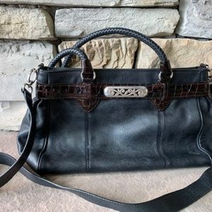 Brighton leather purse with handle and crossbody